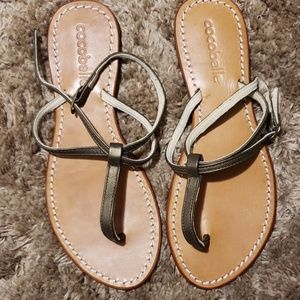 eab797e96 Cocobelle leather ankle wrap sandals.